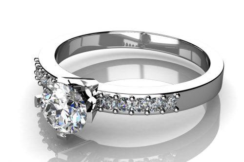 Hochzeitsring - Syntethische Industrie- und Schmuckdiamanten
